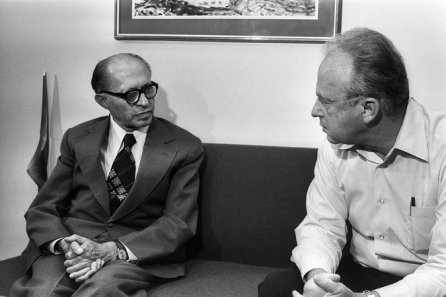 Yitzhak and Menachem in happier times.