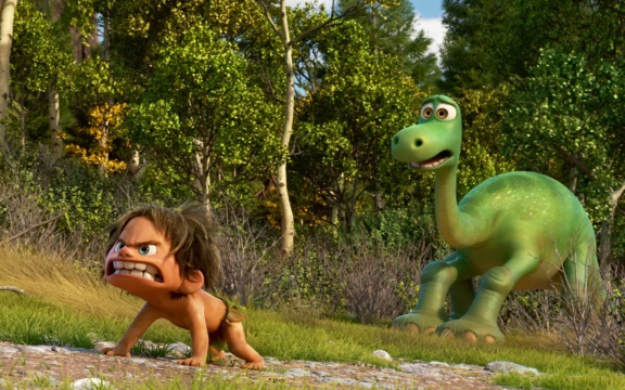 Look at the horrified look on the dinosaur's face.