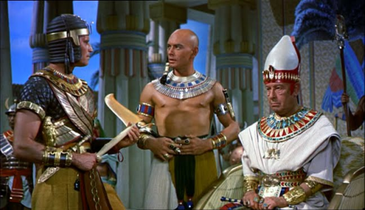 Brynner? Russian. Hardwicke? English, of course. Heston? Illinois, back when that was part of the USA.