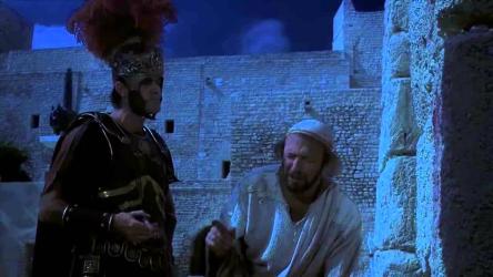 """""""Romane ite domum,"""" of course."""